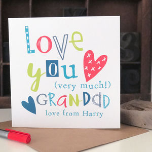 Personalised Father's Day Card For Grandad - father's day cards