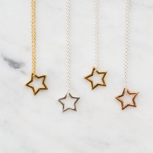 Girls Star Necklace - baby & child