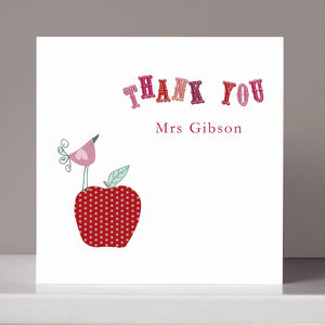 Personalised Teacher Thank You Card - thank you cards