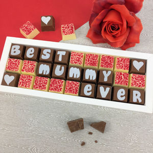 Best Mummy Ever Gift Box Of Personalised Chocolates