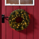 Pre Lit Outdoor Artificial Christmas Wreath