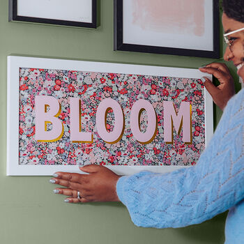 'Bloom' Liberty Fabric Framed Picture
