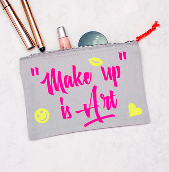 Slogan Neon Make Up Bag Cosmetic Bag