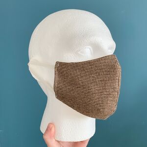 Mens Linen Reversible And Reusable Fabric Face Mask