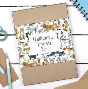 Personalised Dogs Writing Set - shop by category