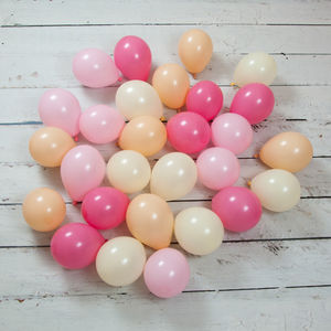 Pack Of 28 Peach Blossom Mini Balloons - outdoor decorations