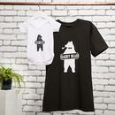 Daddy Bear, Baby Bear T Shirt And Baby Grow Set