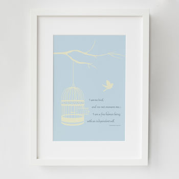 Jane Eyre Literary Quote Print