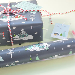 North Pole Christmas Wrapping Paper - wrapping