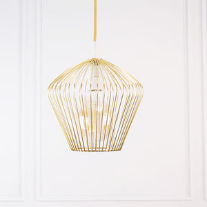 Gold Brass Scandinavian Geometric Ceiling Pendant Light - lighting