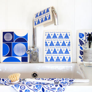 Set Of Blue Dish Cloths
