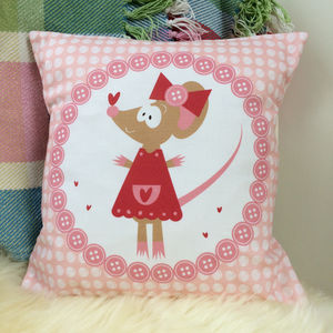 Children's Miss Mouse Cushion - cushions