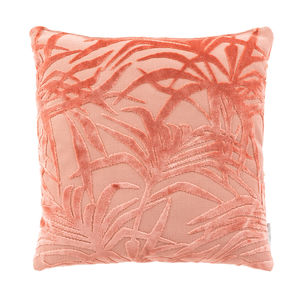 Palm Tree Flamingo Pink Cushion - living room