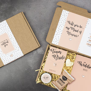 Personalised Will You Be My Maid Of Honour Gift Box - be my bridesmaid?