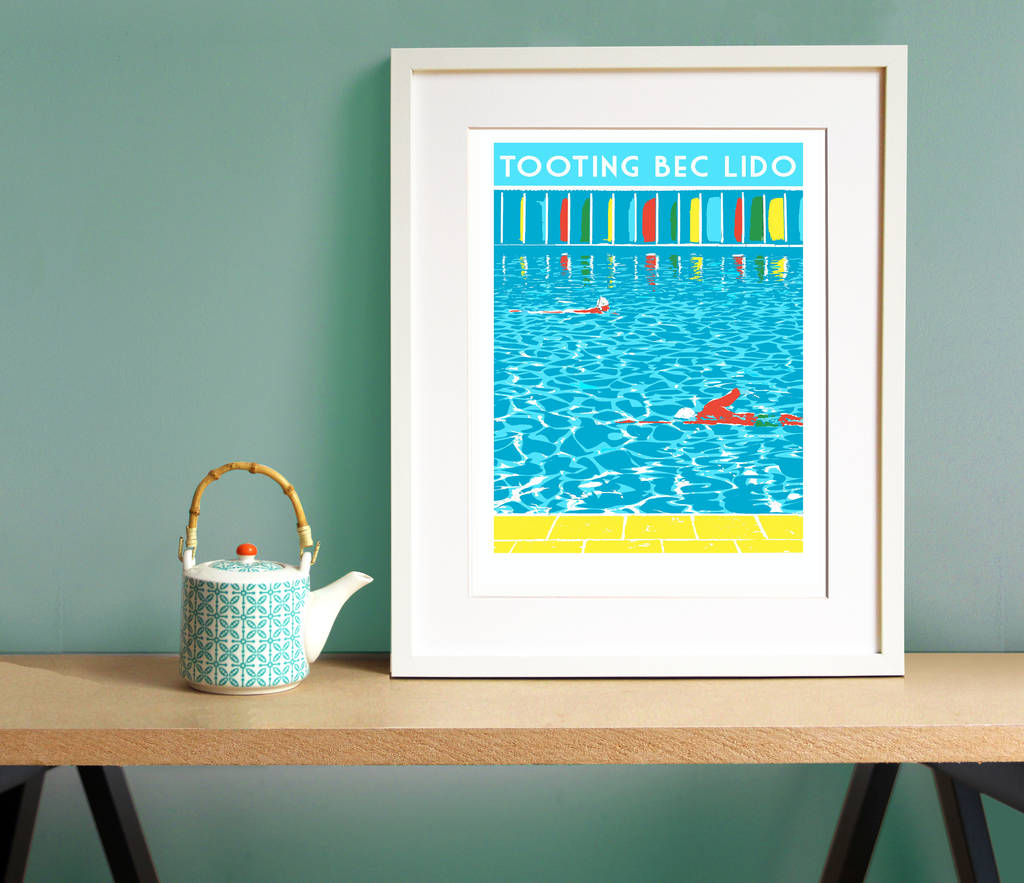 Tooting Bec Lido Screen Print