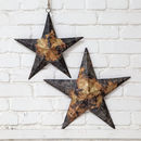 Black And Gold Distressed Metal Stars