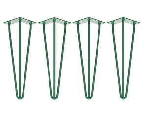 Four X Three Rod Green Hairpin Legs In All Sizes - furniture