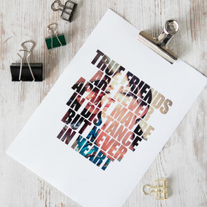 My Quote, Lyrics Or Words Personalised Photograph Print