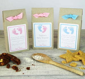 Personalised Baby Shower Cookie Mix Favours - make your own kits