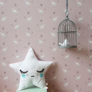 Woodland Fawn Wallpaper - children's room