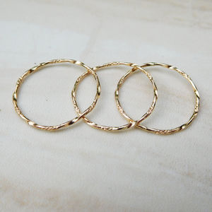 Delicate Gold Twist Ring - rings