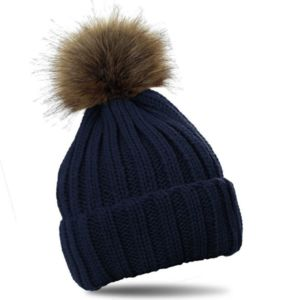 Luxury Adult Faux Fur Pom Pom Hat