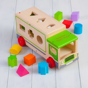 Wooden Personalised Shape Sorter Lorry Toy - board games & puzzles