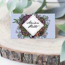 Meadow Bright Floral Wedding Place Cards Pack 10