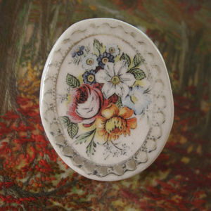 Vintage Stoneware Brooch - new lines added