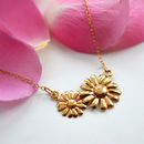 Lily Charmed Gold Daisy Necklace