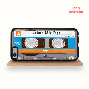 Personalised Cassette Tape iPhone Case iPhone 6 S 5S Se - gifts for him