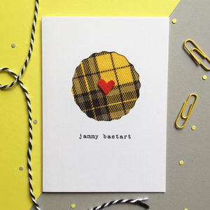 'Jammy Bastart' Scottish Tartan Card