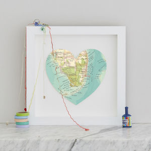 Personalised Location Miami Map Heart Print