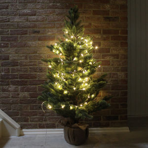 Artificial Pine Christmas Tree With Hessian Pot - christmas trees