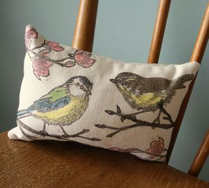British Bird Print Herbal Sleep Pillow - cushions