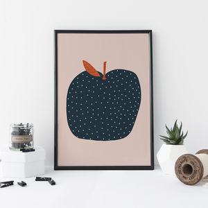 Modern Apple Art Print - drawings & illustrations