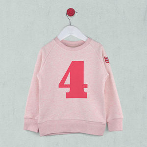 Age Four Sweatshirt Pink Or Blue - t-shirts & tops