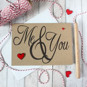 Me And You, Anniversary Card, Engagement Card, Love - wedding cards & wrap