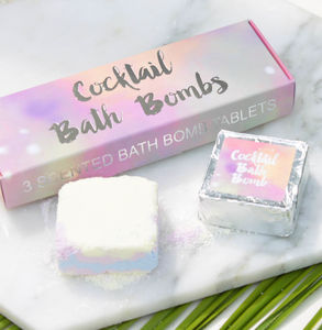 Cocktail Bath Bomb Gift Set - gifts for friends