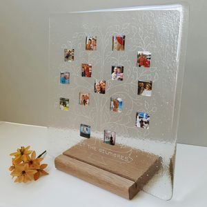 Personalised Family Tree Photograph Display Frame