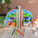 Fair Trade Safari Bookend Set