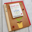 Thank You For Helping Me Grow Card And Seed Packet Gift