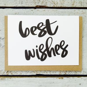 'Best Wishes' Card