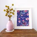 Personalised Colourful Inky Floral Print