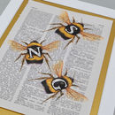 Bee Letter Three detail