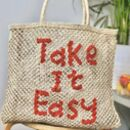 Take It Easy Handmade Square Bag