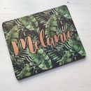 Personalised Tropical Palm Leaves Mouse Mat