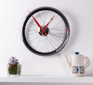 Racing Bike Wheel Clock In Two Sizes