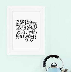 Hangry Kitchen Print - shop by subject
