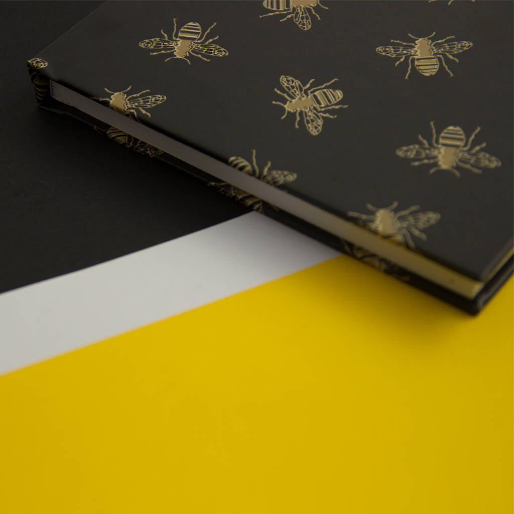 bees print notebook  lined  plain or graph paper by harper